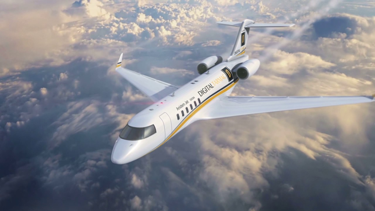 Digital Tarmac Jet Commercial